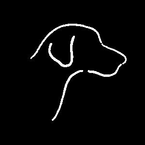 Minimalistischer Hund (Silhouette)