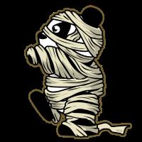 Pandabaer Mumie HARIZ Halloween Horror Gruselig