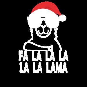 Fa la la la Lama Shirt Lustiges Santa Lama Shirt