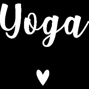 Yoga with heart. Yoga mit Herz. (white)
