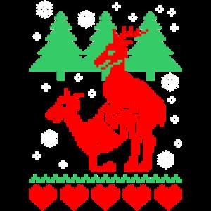ugly christmas humping reindeer