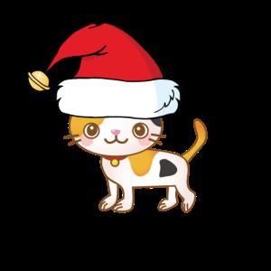 gefleckte Weihnachtskatze Weihnachten Geschenk