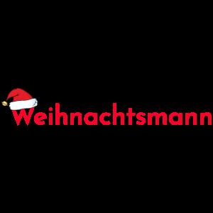 Weihnachtsmann Muetze Geschenk rot