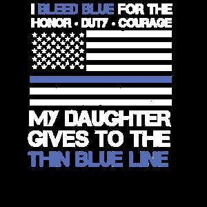 Dünne blaue Linie Familienhemd amerikanische Flagge stolz