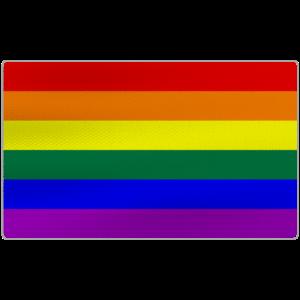 Beunruhigte LGBTQ-Stolz-Flagge