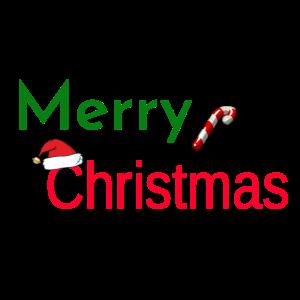 Merry Christmas mit Muetze Weihnachten Geschenk