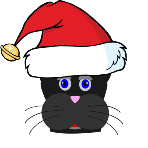 schwarze Weihnachtskatze Weihnachten Geschenk