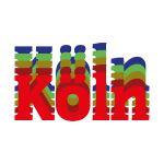 Köln - Stadtnamen rot