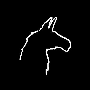Minimalistisches Lama (Silhouette)