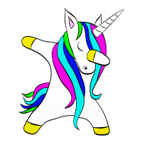 Dabbing unicorn Einhorn