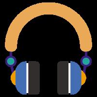 Flaches Design Musik Headset bitte nicht stören