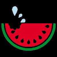Flaches Design - leckere Wassermelone - Geschenk