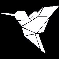 Vogel Kolibri Origami Geometrisch Vögel Weiß