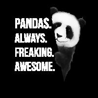 Pandas Freaking Awesome Panda Liebe Geschenk