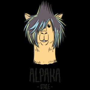 Cooles Alpaka Llama Tier Trend Geschenk