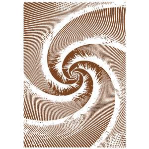 Abstrakte Wirbel / Linie / braun / Muster