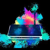 Kabellos Router farbenfroh