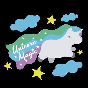Buntes Magic Regenbogen Fantasie Einhorn Geschenk