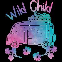 Wild Child Watercolor Hippie Bewegung Camping