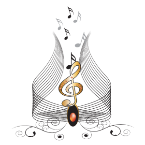 Dekorative Nägel Musik