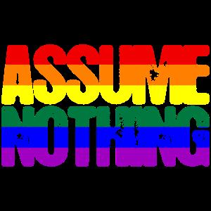 LGBTQ Stolz Nimm nichts an