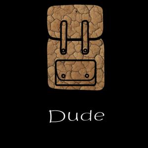 Backpack DudeTravel Rucksack Geschenk Geschenkidee