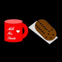 Ich bin bereit Milch und Kekse Weihnachten