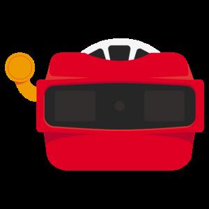 Flat Design - Stereoskop 3D Viewer Souvenir