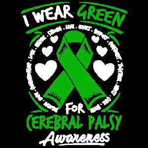 Ich trage Grün für Zerebralparese-Bewusstseins-T-Shirt