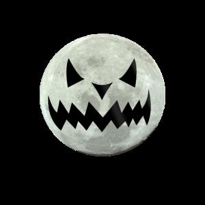 Gruseliger Halloween Mond