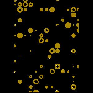 Auffallend Kreativ gold Punkte Kreise