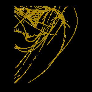 Abstrakte Linien / Linie / gold / Muster