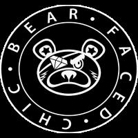 Bear Faced Chic Schwarz-Weiß-Logo Varient