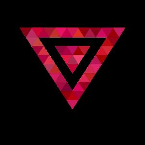 Dreiecke Dreieck Modern Originell Lila Blau Form