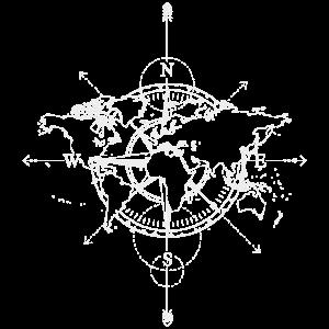 Fernweh T-Shirt Geschenk für Reisende Compass