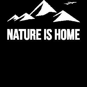 Nature is Home Wald Berge Natur Freiheit Geschenk