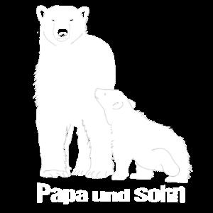 Bären Papa und Sohn Bär Eisbär Geschenk
