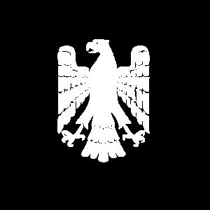 Der deutsche Adler in weiß