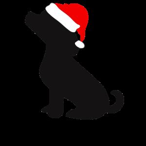 Hunde Welpe Weihnachtsmuetze
