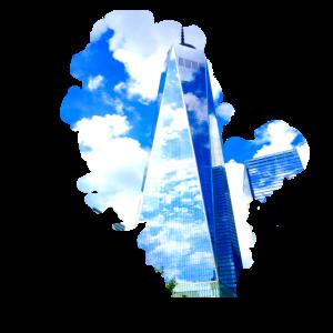 Himmelblaue Wolkenkratzer Großstadt