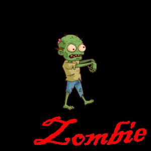 I am a Zombie clip art blut