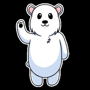 Süßes Tier Baby Eisbär Polarbär Bär
