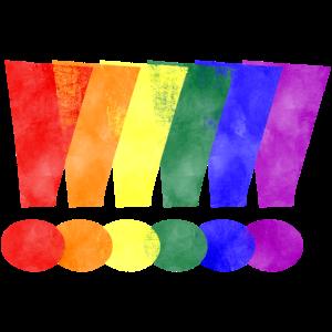LGBTQ Pride Ausrufezeichen