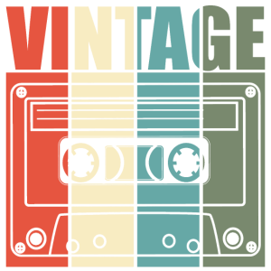 Musik Kassette Vintage Old school Music is Life