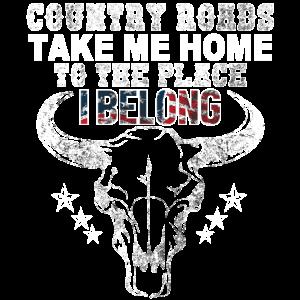 T-Shirt für Country- und Rockmusikliebhaber