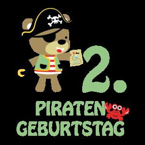 Piraten zweiter Geburtstag 2 Jahre zwei T-Shirt