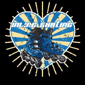 Inline Skating Retro Herz