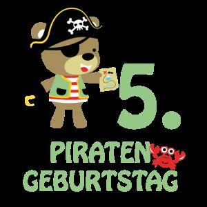 Piraten Fünfter Geburtstag 5 Jahre Fünf T-Shirt