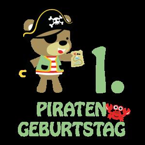Piraten Erster Geburtstag 1 Jahre Eins T-Shirt