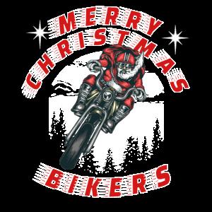 Weihnachtsmann auf Motorrad - Biker Santa Chopper